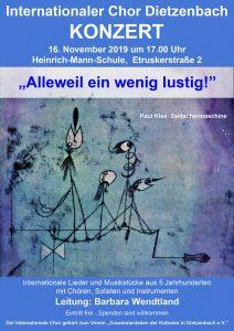 Konzert des Internationalen Chors @ Heinrich Mann Schule | Dietzenbach | Hessen | Deutschland