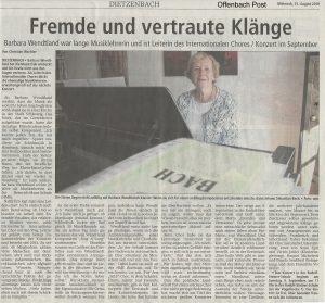 Konzert des Internationalen Chors @ Rudolf Steiner Schule